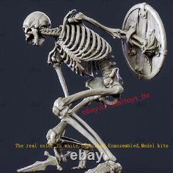 Skull Warrior Squatting Ver. Unpainted 22cm H Model Kit Unassembled 3D Printing