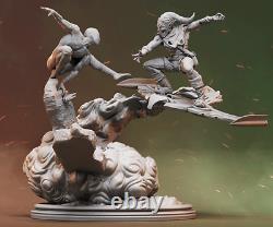 SpiderMan vs Green Goblin 3D PRINTED Unpainted/Unassembled Garage Kit 12in/30cm