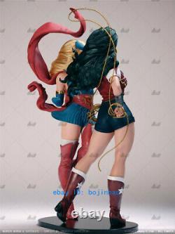 Supergirl Wonder Woman Unpainted Model Kits Unassembled 1/6 Scale 34cm 3D Print