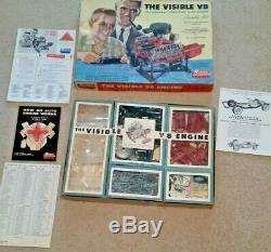 THE VISIBLE V8 Engine Kit Renwal UNASSEMBLED COMPLETE with BOX & INSTRUCTIONS