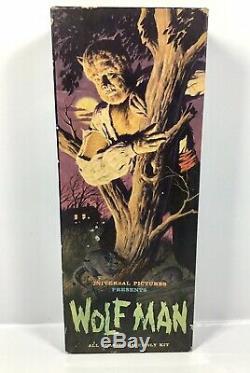 THE WOLFMAN 1962 Vintage Original Universal Monsters MODEL KIT Unassembled #425