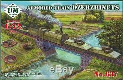 UMT 637 1/72 Russian Armored train'Dzerzhinets' WWII plastic model kit