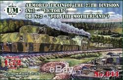 UMT 644 1/72 Armored train Victory/For the Motherland WWII Unimodel kit