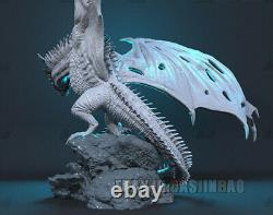 Unpainted 1/50 35cm/13.7inch Ice Dragon Resin Figure 3D Print Model Unassembled