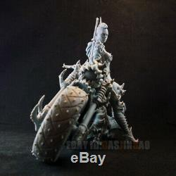 Unpainted 1/6 28cm/11inch H Motorcycle Driver Resin Figure Beauty Girl 3D Print