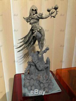 Unpainted 1/6 42cm H Raven Witch Female Resin Figure Unassembled 3D Print Model