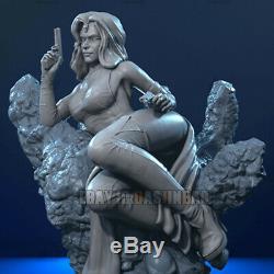Unpainted 1/8 H23cm Mystique Beauty Girl Resin Figure 3D Print Model Unassembled