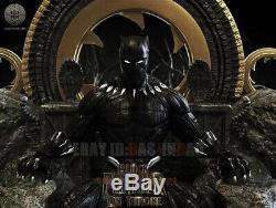 Unpainted 20cm/7.8inch H Black Panther Resin Figure Unassembled 3D Print Model
