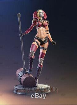 Unpainted 30cm H Harley Quinn Resin Figure Model Kit Unassembled 3D Print Model
