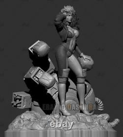 Unpainted 30cm Rogue Anna Marie Beauty Girl Figure Unassembled 3D Print Model