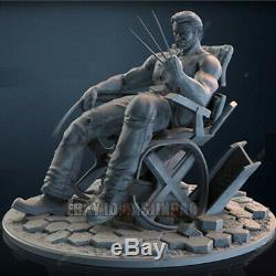 Unpainted 325MM Width Wolverine On The Chair Figure Unassembled 3D Print Model