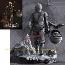 Unpainted 36cm 16 Mandalorian Baby Yoda Figurine Model Kit 3D Print Unassembled
