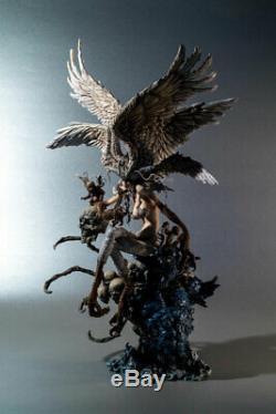 Unpainted Devil Man Demon Bird Unassembled Resin Half Bust Model Garage Kit