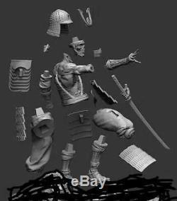 Unpainted and unassembled skeleton warrior 40cm high, gk, resinkit
