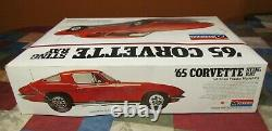 VINTAGE MONOGRAM #2600'65 CORVETTE STING RAY-18 SCALE-SEALED PARTS-with O. BOX