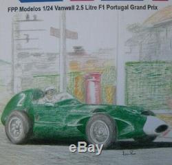 Vanwall F1 Stirling Moss 1/24 unassembled kit 1958 Portugal GP
