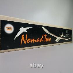 Vintage House of Balsa NOMAD TWO 2 Channels Model Airplane Kit UNASSEMBLED