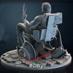 Wolverine & Chair 25cmH Unpainted Model Kit Unassembled GK 3D Printing GK Statue