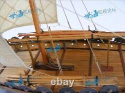 Wooden scale 1/50 sailing boat Viking ship Unassembled model building DIY kit