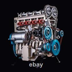 Yamix Full Metal Engine Model Desk Engine, Unassembled 4 Cylinder Inline Car Eng